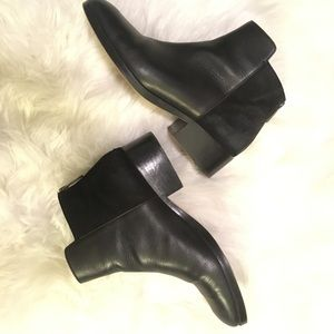 Genuine black leather Cole Haan booties size 9